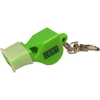 Essential Packs Emergency Whistle with Carabiner - Angle View