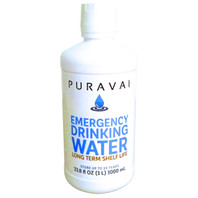 Puravai Emergency Drinking Water - 20 Year Shelf Life (1 Liter Bottle)