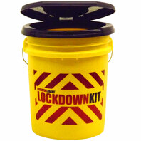 """LOCKDOWN KIT""  Bucket with Snap-On Toilet Seat Lid"