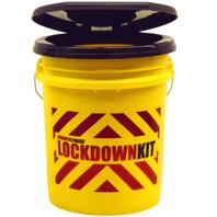 """LOCKDOWN KIT""  Bucket with Snap-On Toilet Seat Lid"