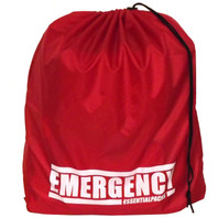 """EMERGENCY"" Drawstring Bag (Red)"
