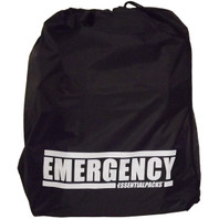 """EMERGENCY"" Drawstring Bag (Black)"