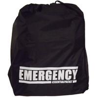 """EMERGENCY"" Drawstring Bag (Black)"