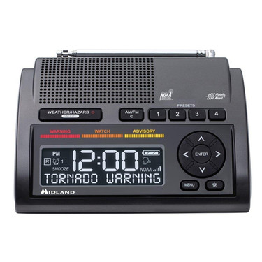 Midland Deluxe NOAA Weather Radio (WR400) - Front