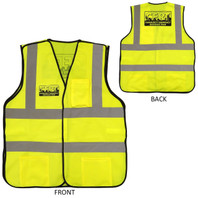 Premium Yellow CERT Safety Vest - Front and Back