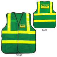 Premium Green CERT Safety Vest - Front and Back