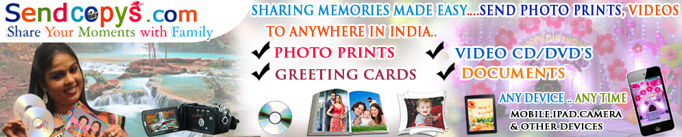 Send Photo Prints,Video DVDs,Greeting Cards,Documents ,Fax Online To India,USA