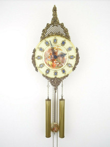 GERMAN ANTIQUE CLOCK FRAGONARD VINTAGE 8 DAY WALL CLOCK