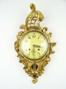 ANTIQUE SWEDISH CLOCK VINTAGE WALL CLOCK