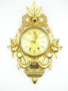 ANTIQUE SWEDISH CLOCK VINTAGE WALL CLOCK 8 DAY