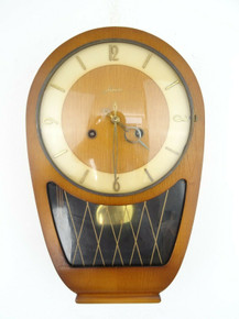 GERMAN ANTIQUE CLOCK HAID VINTAGE WALL CLOCK