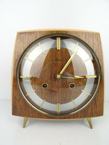 GERMAN ANTIQUE CLOCK HAID VINTAGE 8 day Mantel CLOCK