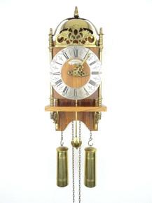 ANTIQUE VINTAGE BEAUTIFUL DUTCH WARMINK LANTERN WALL 8 Day CLOCK