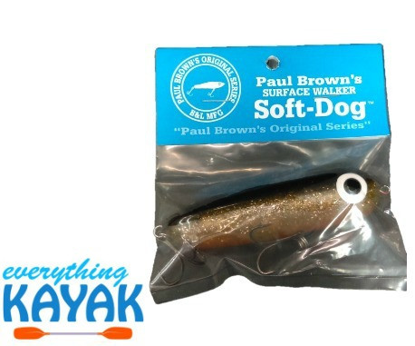 Soft Dog Lure - Black Gold Orange | Everything Kayak