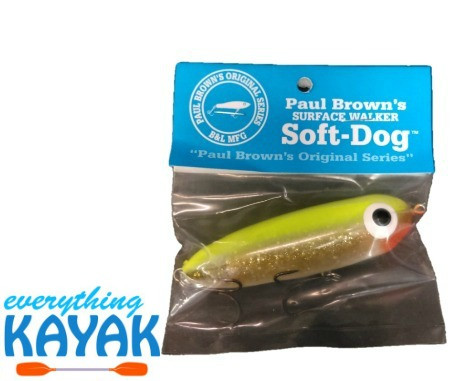 Soft Dog Lure - Chartreuse Gold | Everything Kayak