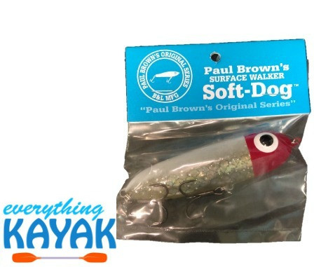 Soft Dog Lure - White Redhead Silver | Everything Kayak