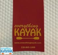 Detail of Everything Kayak Tow Flag