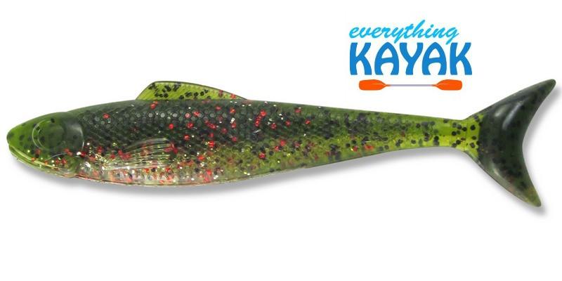 "Egret Wedge Tail 5"" - Green Chili Pepper   Everything Kayak"