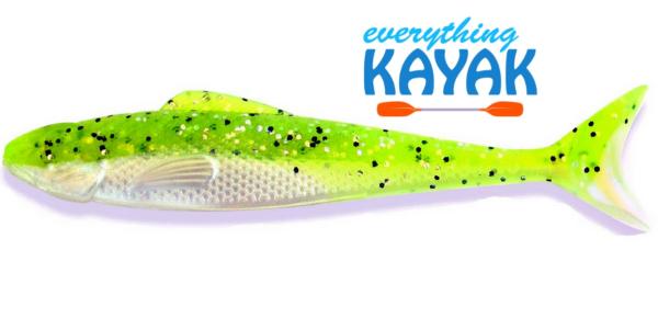"Egret Wedge Tail 5"" - Limeade   Everything Kayak"