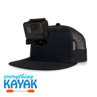 ActionHat Mesh: Black Flat Bill