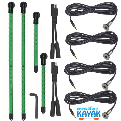 Yak Power Complete 4-piece LED Light Kit Green