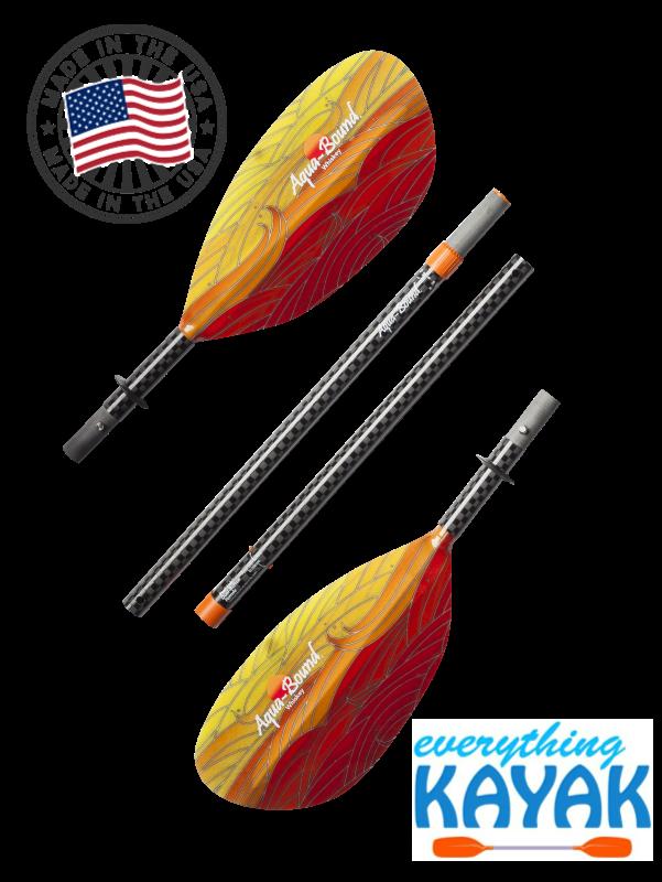 Aqua-Bound Whiskey Fiberglass Paddle 4pc Fuego