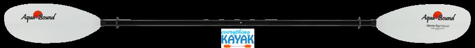 Aqua-Bound Manta Ray Hybrid 2pc Snap Button Paddle