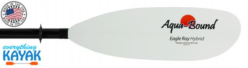 Aqua-Bound Eagle Ray Hybrid Paddle 2  piece snap