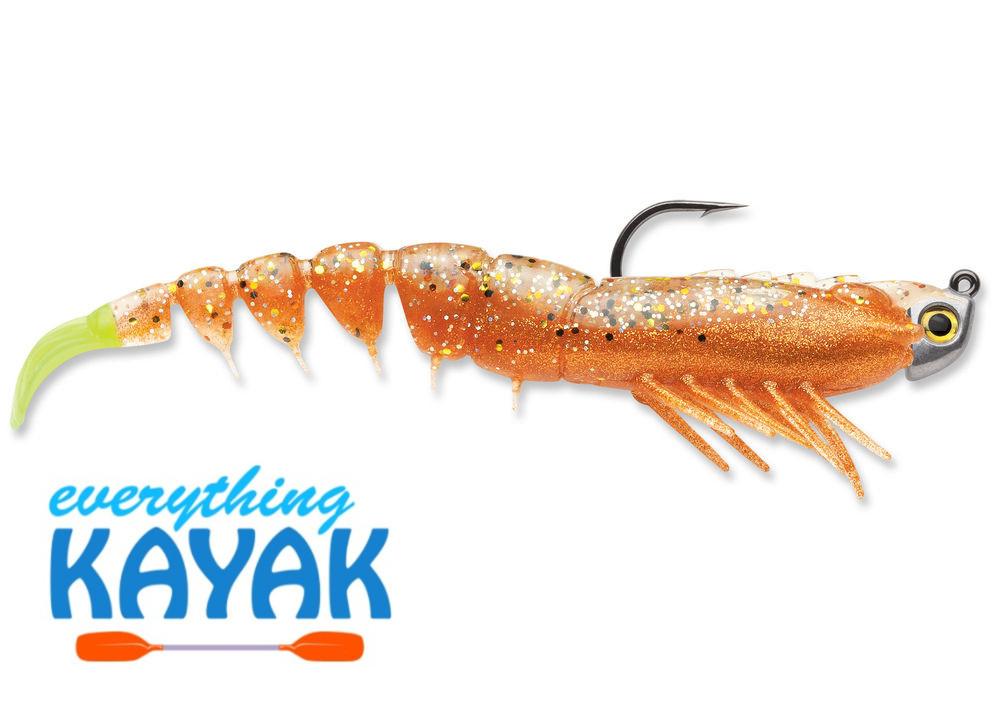 "Rapala 4"" Shrimp Jig - New Penny Chartreuse Tail | Everything Kayak"