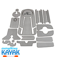 Hobie Mat Kit for 2019 Outback - Grey/Charcoal | Everything Kayak