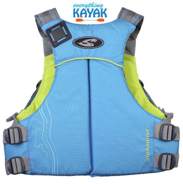 Stohlquist Glide PFD - Women's - Cyan Blue BACK | Everything Kayak