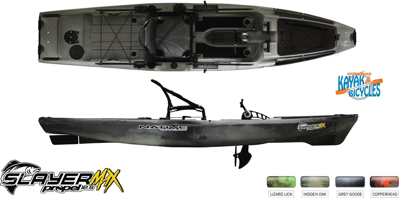 Native Slayer Propel 12.5 Max - Grey Goose   Everything Kayak & Bicycles