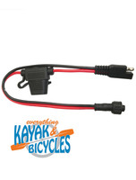 """Yak Power 12"""" Battery Terminal Connector with SAE to NOCQUA Connector"""