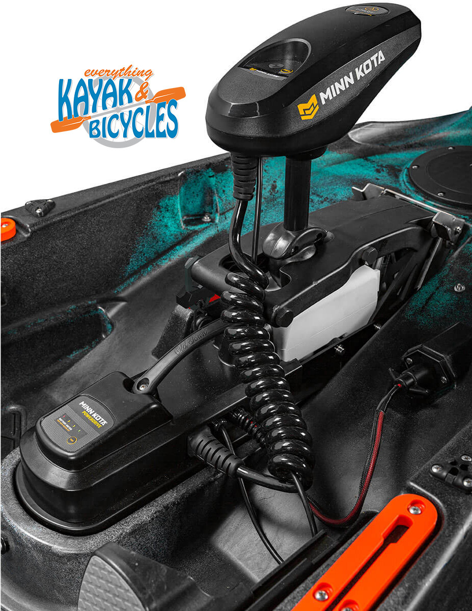 The saltwater-ready 45 lb. thrust 12V Minn Kota motor gets you effortlessly there and back