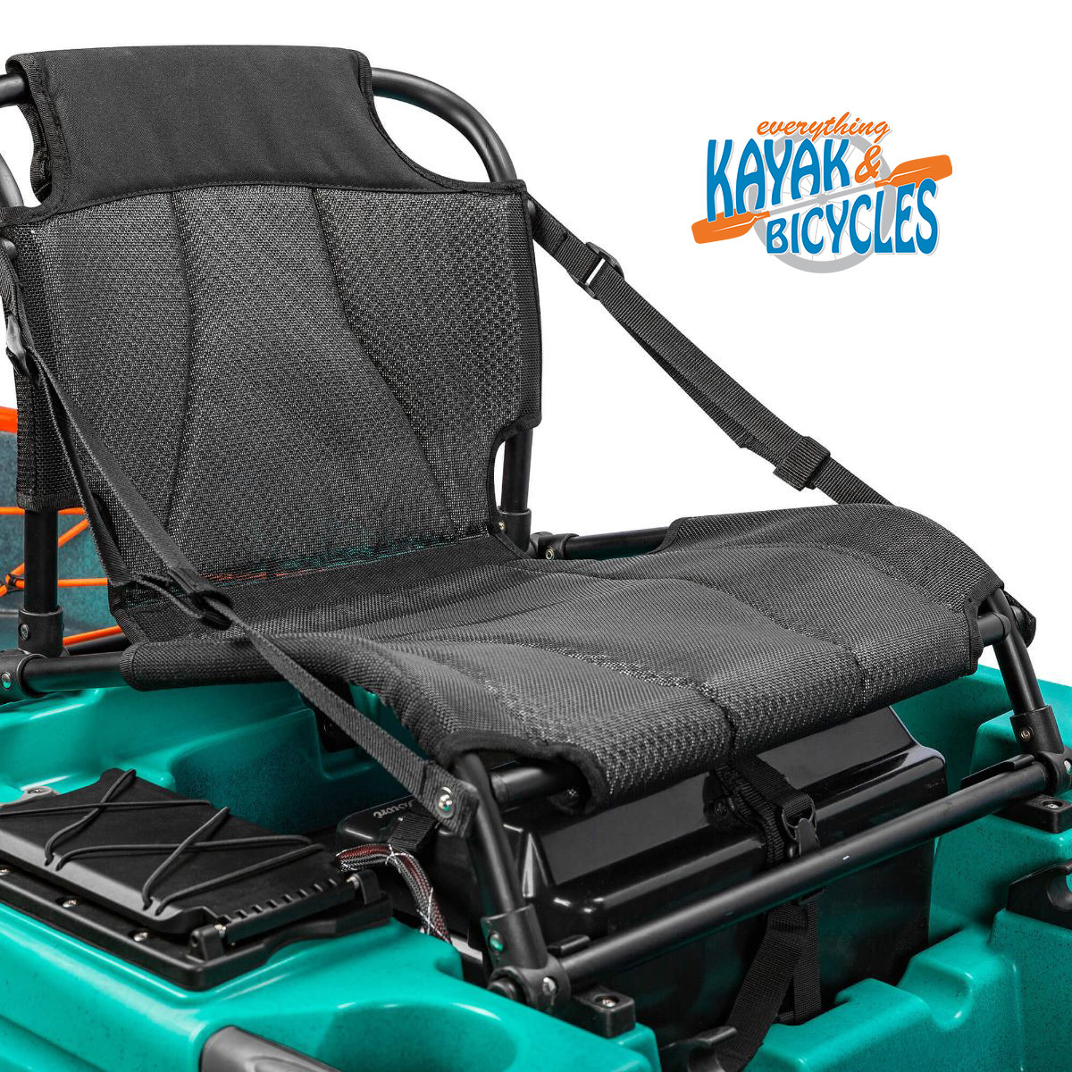 Premium seating for all day comfort. Dual-layer Textilene is durable, UV resistant and easy to clean. A mid-layer of 3D mesh adds comfort without inhibiting Textilene's natural breathability. Position seat high or low in the kayak. Removable for transport