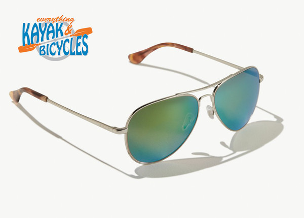 Bajio Soldado In Permit Green Plastic Lens/Silver Glass Frames