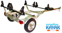 Everything Kayak Malone kayak trailer kit holds two kayaks flat this works well with Hobie Pro Angler, Outback, Oasis, Revolution Kayak Mississippi, Mississippi Kayak