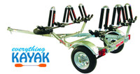 Everything Kayak Malone Kayak Trailer holds 4 kayaks great for kayak fishing and kayak storage Mississippi kayak