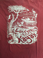 Everything Kayak Graphic T Shirt Crimson