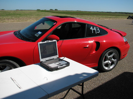 Porsche 996 Turbo at the Texas Mile, powered by Softronic engine performance software.
