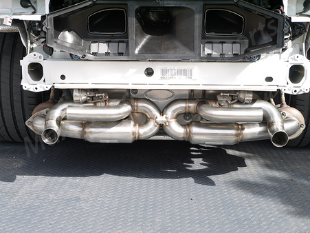Porsche 991 Center X-Pipe Performance Exhaust with Sound Valves
