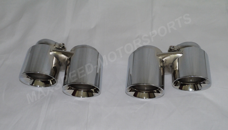 Porsche 991 / 991S / 991C4S Quad Exhaust Tips by NHP