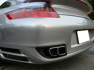 Porsche 997 Turbo Teardrop Style Exhaust Tips