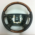 Jaguar Wood Steering Wheel Xj8, Vdp, Xjr, Xk8 04-06. C2C17445AEK