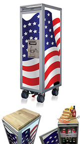 American Flag - 4th of July Special, incl. 1 Poly Drawer, 1 Alu-Shelf, Marple Butcher Block
