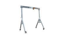 "Spanco 2 Ton 10' Aluminum Gantry Crane Rental - Adjustable Height 5'-8"" to 8'-2"""