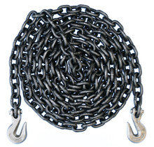 "1/2"" - Grade 80 Binder Chain - Grab Hooks - 20' Length"