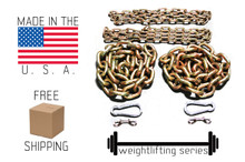 """5/8"""" 1/2"""" & 3/8"""" Weightlifting Chain Package 78.6 lbs"""