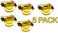 "5 Pack - Transport Durabilt Ratchet Strap - Flat J Hook - 27' Foot Length 2"" Width"