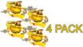 """4 Pack - Transport Durabilt Ratchet Strap - Wire Hook - 27' Foot Length 2"""" Width"""